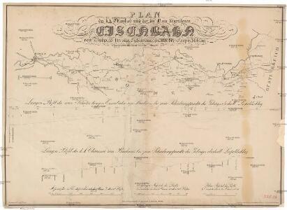 Plan der k.k. Chaussée und der im Bau bergriffenen Eisenbahn von Budweis bis zum Scheidungspunkte bei Leopoldschlag