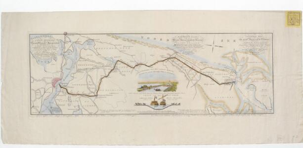 Algemeene kaart van het Groot Amsterdamsch Kanaal door Noord Holland: ondernomen in 1819 en voltooid in 1825