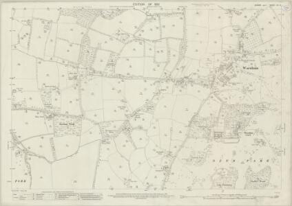 Sussex XIII.3 (includes: Slinfold; Warnham) - 25 Inch Map