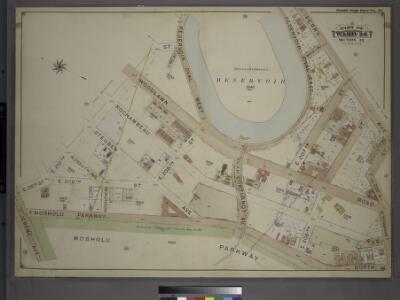 Double Page Plate No. 36, Part of Ward 24, Section 12. [Bounded by E. 210th Street, Reservoir Oval West, Perry Avenue, E. 205th Street, Bainbridge Avenue, E. Mosholu Parkway North and Jerome Avenue.]