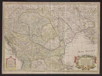 Carte de la Hongrie et partie septentrionale de la Turquie