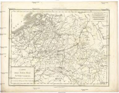 Carte des Pays-Bas Autrichiens