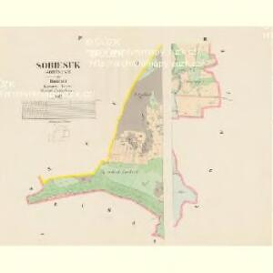 Sobiesuk (Soběsuky) - c7119-1-003 - Kaiserpflichtexemplar der Landkarten des stabilen Katasters