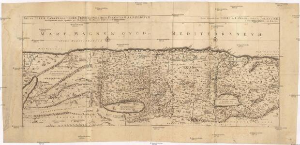 Sitvs terrae Canaan, sive Terrae promissionis, hodie Palaestinae, Ss. Bibliorvm intelligentiam exacte aperiens