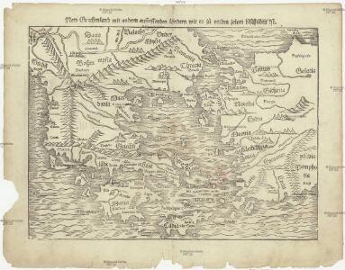 New Griechenland mit andern anstossenden ländern wie es zu unsern zeiten beschriben ist