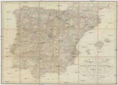 Karte von dem Iberischen Halbinsellande oder den Königreichen Spanien und Portugal