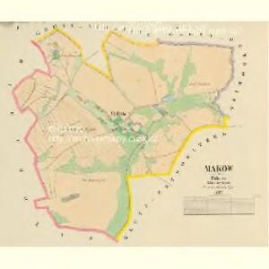Makow - c4357-1-001 - Kaiserpflichtexemplar der Landkarten des stabilen Katasters