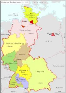 Länder der Bundesrepublik 1949