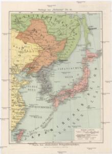 Karte des ostasiatischen Kriegsschauplatzes