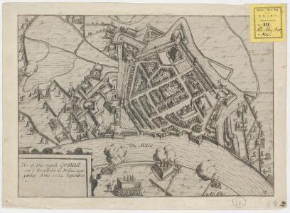 Hic est situs oppidi Graviae cum á Excellentia de Nassou occuparetur anno 1602 Septembris 2