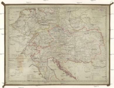 Post Karte saem[m]tlicher kais. kön. oesterreichischen Staaten mit dem grösten Theile von Deutschland, Holland, Frankreich und Italien