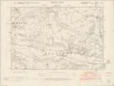 Montgomeryshire VI.SW - OS Six-Inch Map