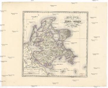 Reise Karte von der Insel Rügen