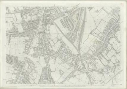 London (First Editions c1850s) LXXVI (includes: Camberwell; Lambeth St Mary) - 25 Inch Map