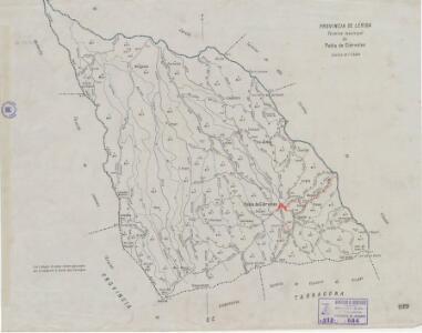 Mapa planimètric de la Pobla de Cérvoles
