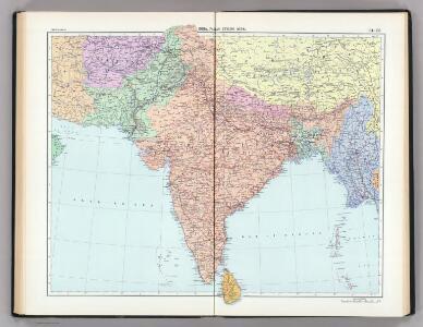 134-135.  India, Pakistan, Ceylon, Nepal, Political.  The World Atlas.