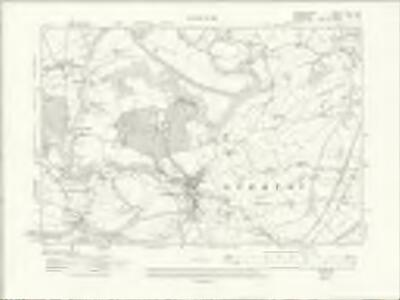 Denbighshire XXXVI.SW - OS Six-Inch Map