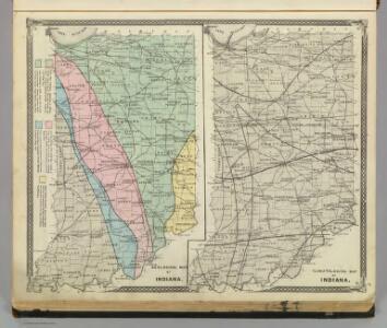 Geological map of Indiana. Climatological map of Indiana.