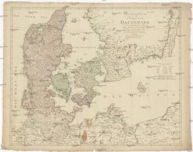 Generalkarte des Königreichs Daenemark