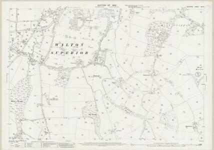 Cheshire XVI.15 (includes: Appleton; Daresbury; Hatton; Walton) - 25 Inch Map