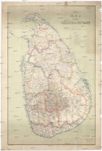 Map of the island of Ceylon