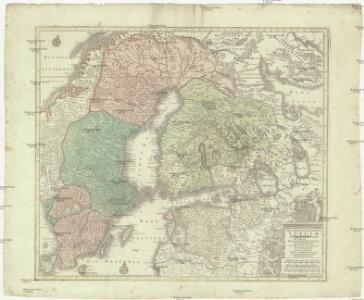 Nova mappa geographica Sueciae ac Gothiae regna ut et Finlandiae ducatum ac Lapponiam, cum provinciis minoribus, ob oculos ponens