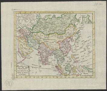 Nieuwe kaart van Asia volgens de laatste ontdekkingen