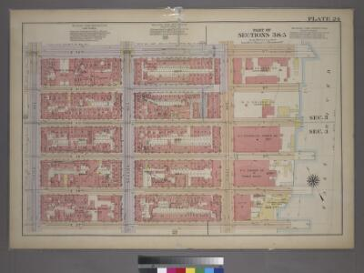 Plate 24, Part of Sections 3&5: [Bounded by E. 42nd Street, (East River Docks) First Avenue, E. 37th Street and Third Avenue.]