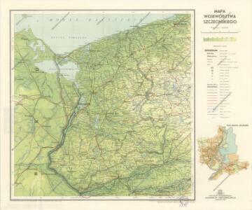 Mapa Wojewodztwa Szczecinskiego