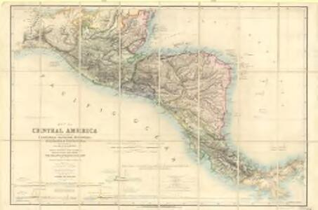 Map of Central America including the states of Guatemala, Salvador, Honduras, Nicaragua & Costa-Rica, the territories of Belise & Mosquito, with parts of Mexico, Yucatan & New Granada : shewing the proposed routes between the Atlantic & Pacific oceans by way of Tehuantepeque, Nicaragua & Panama