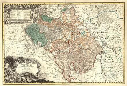 Principatvs Silesiae Oppaviensis novissima Tabula geographica.