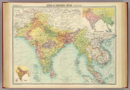 India & Farther India - political.