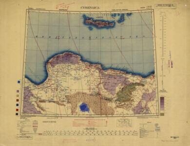 Africa  1:2.000.000, Cyrenaica