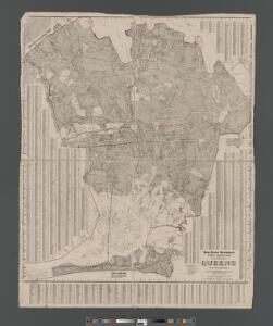 Street Indexed map of the Borough of Queens, also showing the Congressional Districts.