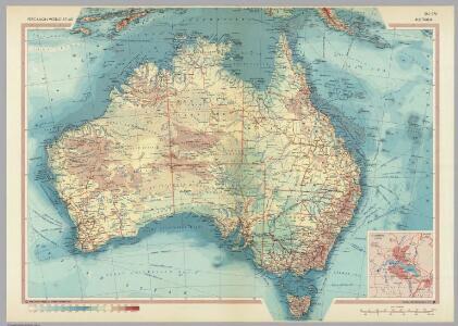 Australia.  Pergamon World Atlas.