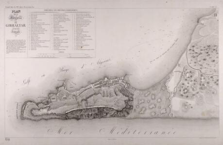 Plan De La Forteresse De Gibraltar Et De Ses Environs