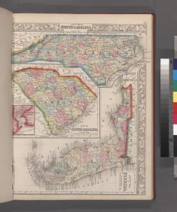 County map of North Carolina, Map of South Carolina, County map of Florida ; Map of Charleston Harbor [inset].