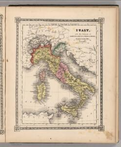 Italy with the Islands of Sardinia, Sicily, Corsica and Malta.