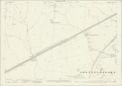 Berkshire XXX.8 (includes: Hurley; Shottesbrooke; Waltham St Lawrence; White Waltham) - 25 Inch Map