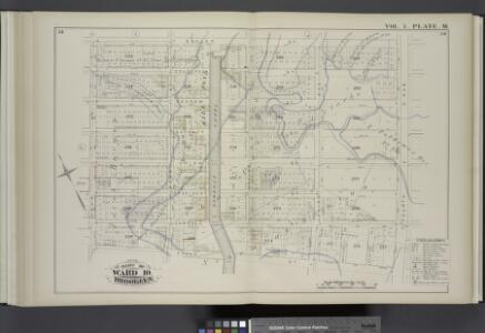 Vol. 5. Plate, M. [Map bound by Butler St., Fourth Ave., First St., Hoyt St.; Including Douglass St., Degraw St., Union St., President St., Carroll St., Bond St., Gowanus Canal, Nevins St., Third Ave., Whitewell Pl., Denton Pl.]