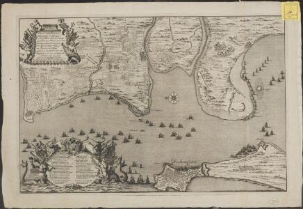 Plaan vande dissante of landing in Spangien voor Cadix met de campementen en marse door den Hertog van Ormont en den Generaal Majoor en Baron de Spar gedaan ceedert den 26 Augustus tot den 27. Septem[be]r anno 1702