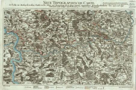 Neue Topographische Carte Der Lahn von Marburg bis zu ihrem Einflus in den Rhein mit Bemerkung der in dieser Gegend vorgefallenen Kriegsbegebenheiten von 1795 und 1796