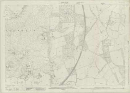 Surrey XXXIII.12 (includes: Capel; Holmwood; Leigh) - 25 Inch Map