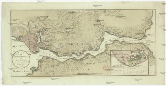 Plan de Constantinople et du Bosphore