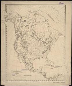 North America : a working map for illustrating, by coloration, the geographical distribution of life