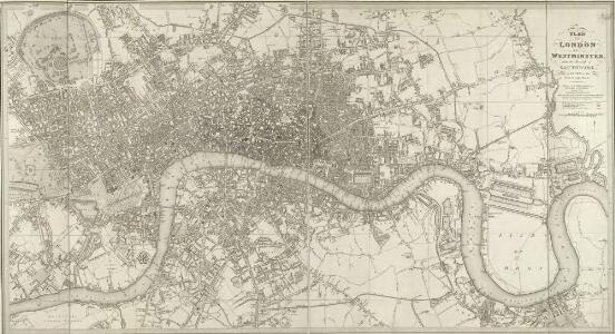 LONDON AND WESTMINSTER with the Borough of SOUTHWARK Being an INDEX to the Large Plan in forty sheets 219
