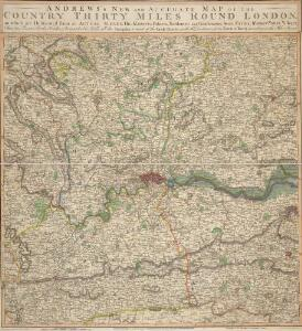ANDREWS'S NEW AND ACCURATE MAP OF THE COUNTRY THIRTY MILES ROUND LONDON