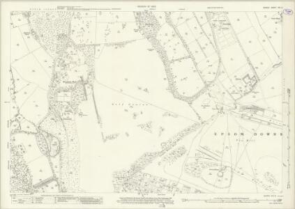 Surrey XIX.9 (includes: Epsom) - 25 Inch Map