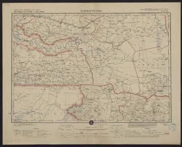 Carte des colonies de l'A.O.F. Tambacounda