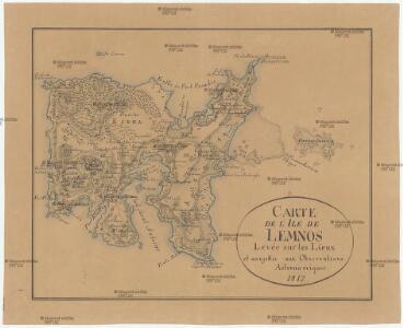 Carte de l'Ile de Lemnos